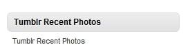 [WordPress]Tumblrの写真をウィジェットに表示するプラグイン Tumblr Recent Photos