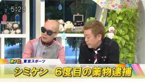シミケン 6度目の薬物逮捕 宇多丸 玉袋筋太郎コメント