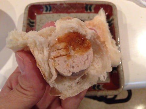 自作カリーヴルスト+白パン