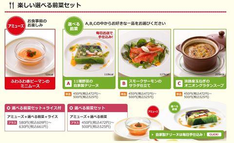 ロイヤルホスト 前菜3種類ABC