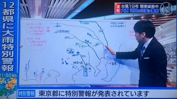 安住紳一郎 台風中継でスマートフォンを見ながらレポートした記者を語る