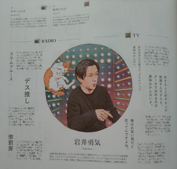 &PREMIUM 2021年4月号「人気芸人たちの、笑いの言語感覚。」ハライチ岩井
